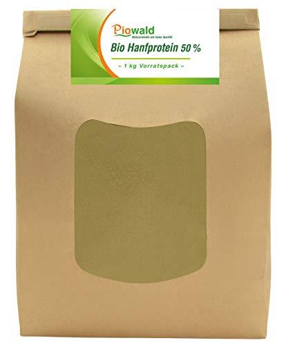 BIO Hanfprotein - 1 kg Vorratspack | Pflanzliches Eiweißpulver von Piowald | Vegan | Protein Pulver, Eiweisspulver aus Hanfsamen für deinen Protein Shake