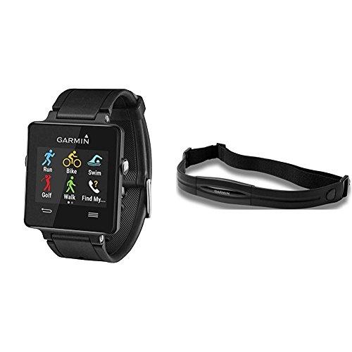 Garmin vívoactive Black W/Heart Monitor (Regular Strap)