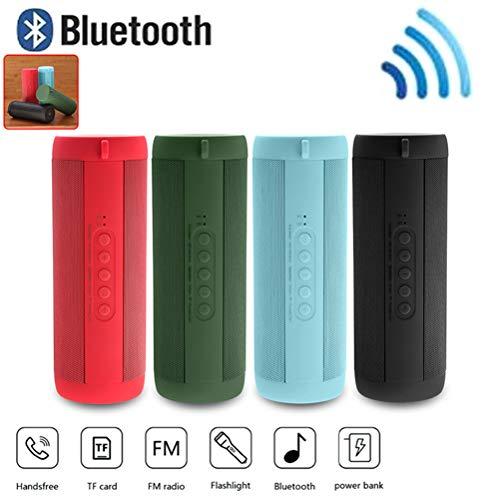 MESST Altavoz Bluetooth inalámbrico, Audio Impermeable al Aire Libre, subwoofer portátil, Soporte para conectar el teléfono móvil conexión Bluetooth, Tablet,Green