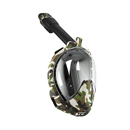 Boha Full Face Snorkel Mask AtlantiSea 180°, GoPro Compatible, Dry...
