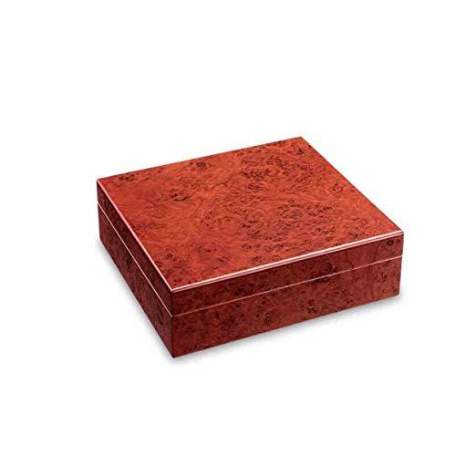 XIONGHAIZI Caja de cigarros, Pintura de Piano Humidor de cigarros, Humidor de Madera de Cedro, Caja de Almacenamiento de cigarros, Rosa/Negro, Envía liderazgo, Padre