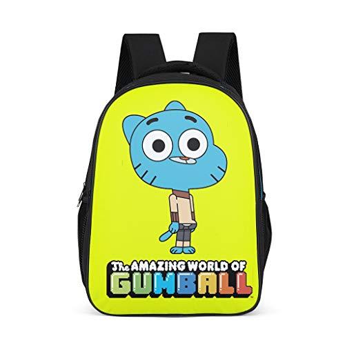 Mochila infantil The Amazing World of Gumball azul gato animal escolar libro grande diaria