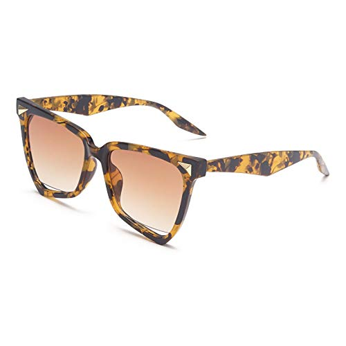 Astemdhj Gafas de Sol Sunglasses Gafas De Sol De Ojo De Gato con Montura Grande De Moda para Mujer, Nuevas Gafas De Sol Huecas Retro Transparentes Coloridas para Mujer, Sombras UvAnti-UV