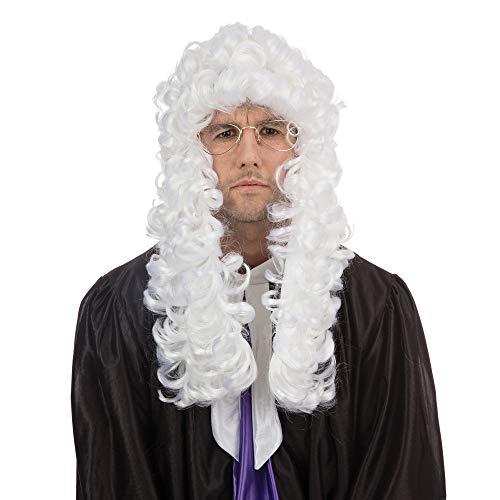 Bristol Novelty BW339 - Parrucca economica da giudice, taglia unica, colore: Bianco