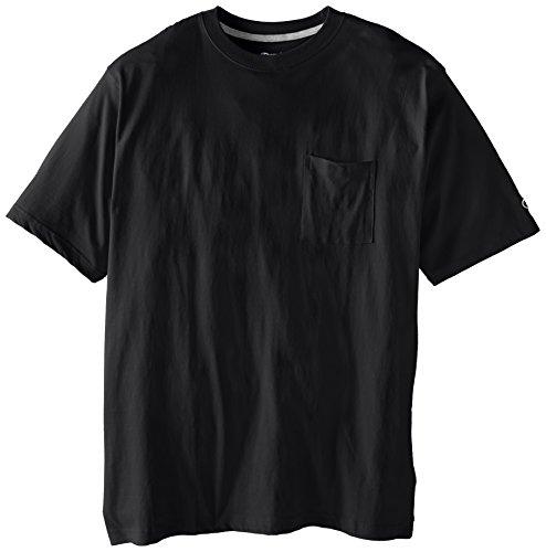 Champion Herren T-Shirt mit großen Taschen, Jersey - Schwarz - 5X