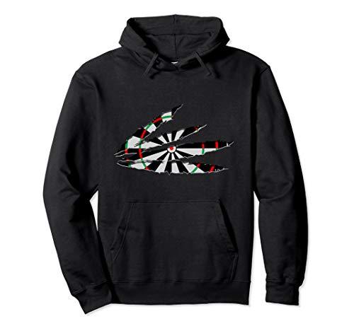 Zerrissene Kleidung Dartscheibe Dartspieler Geschenk Dart Pullover Hoodie