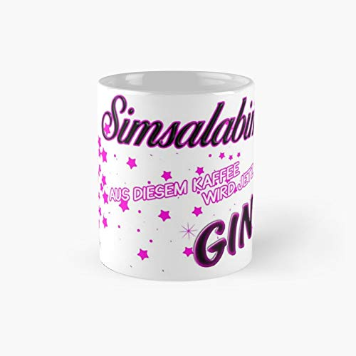 Simsalabim – This Coffee Now Becomes Gin White Classic Mug | El mejor regalo divertidas tazas de café de 11 oz
