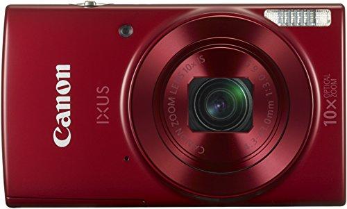 Canon IXUS 180 Digitalkamera (20 MP, 10 x opt. Zoom, 4 x dig. Zoom, 6,8cm (2,7 Zoll) LCD Display, WLAN, Bildstabilisator) rot