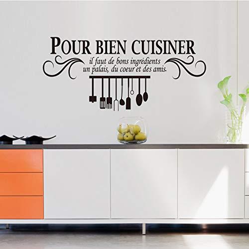 Französisch küche vinyl wandaufkleber Gießen bien gerichte wandmalerei applique WallPaper kunst küche fliesen dekoration 40 * 103 cm