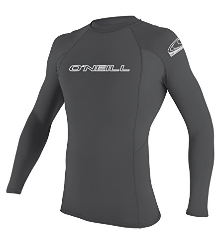 O'Neill Men's Basic Skins UPF 50+ Long Sleeve Rash Guard, Smoke, XX-Large