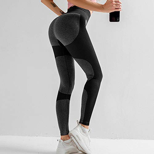 WDDYYBF Yoga Pants for Women,High Waist Fitness Legging Yoga Pants Work Out Breathable Leggins Jogging Pants Seamless Sport Gym Leggings Women Black Tights Sportswear,M
