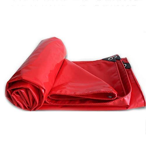 NBVCX Life Decoration TarpaulinTarpaulin Rain Shade Cloth Lona Lona Toldo Toldo Cobertizo Cobertizo Cobertizo Grueso Poncho Rojo Protector Solar Tienda Tienda de campaña (Tamaño: 3 * 5 m)