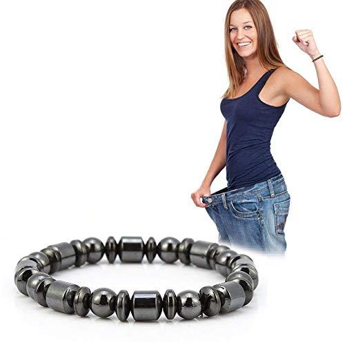 Magnetisches Therapie-Armband, Unisex Stilvolle Gewichtsverlust Black Stone Armband Gesundheitswesen Therapie Armband Frauen Männer Geschenke für Eltern Freunde