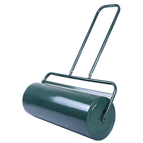 COSTWAY Rasenwalze Handwalze Gartenwalze Schwerlasttrommel, Rasenroller Ideal für Ebenen Rasen (48L / 114x60x32cm)