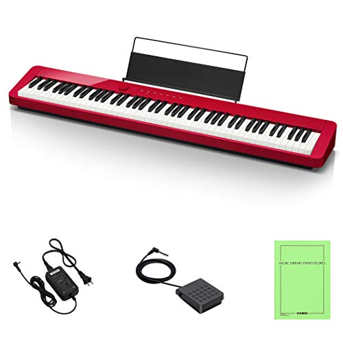 CASIO Privia PX-S1000RD (Red) 88 Keys, Electronic Piano, Popular with Design and High Piano Performance, Can be Used as Bluetooth Speaker