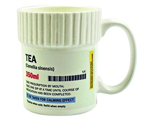 Gift Republic - Tazza a Forma di Barattolo di Pillole, MOD. tè