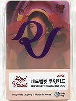 Red Velvet レッドベルベット グッズ / 透明 フォトカード 25枚セット - TRANSPARENT CARD 25pcs [TradePlace K-POP 韓国製]