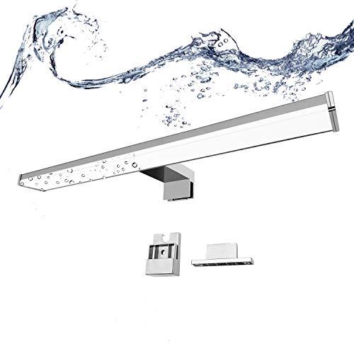 BarcelonaLed Aplique Lámapra de Baño LED para Espejo, Armario o Pared 8W 40cm Impermeable IP44 Luz Blanco Neutro 4000K de Aluminio y Plástico