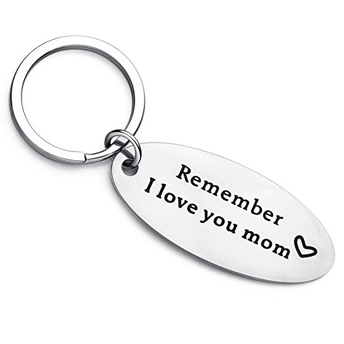 XYBAGS Mother's Day Keychain Gifts from Daughter Son - Remember I Love You Mom - Birthday Christmas...