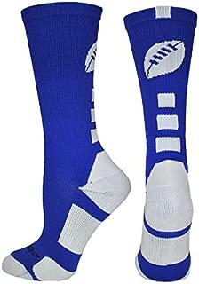MadSportsStuff Football Logo Athletic Crew Socks (Multiple Colors)