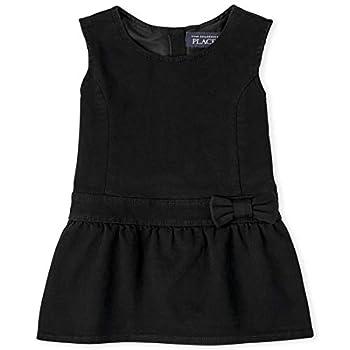 The Children s Place baby girls Dressy Jumper Dress Black 4T US