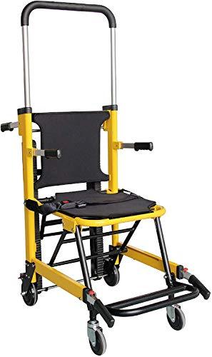 FDSAD Klappbare EMS Medical Chair Treppe - Heben Klettern Rollstuhl Treppenlift Stuhl Tragfähigkeit 350 lbs Manueller Crawler 4 Evakuierungsstuhl Krankenwagen