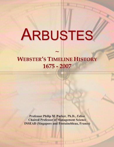 Arbustes: Websters Timeline History, 1675 - 2007