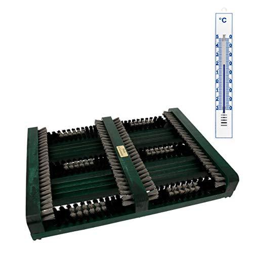 Lantelme Fussabtreter Holz Seitenleisten Hauseingang Thermometer Set Schuhabtreter Schuhputzer Schuhabstreifer 3817