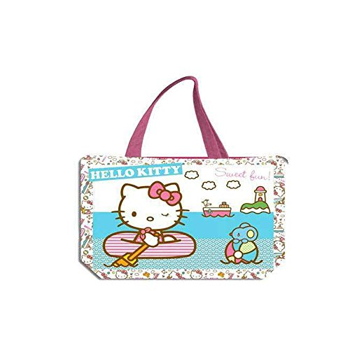 Hello Kitty 2018 Bolsa de Tela Y de Playa, 34 cm, Multicolor