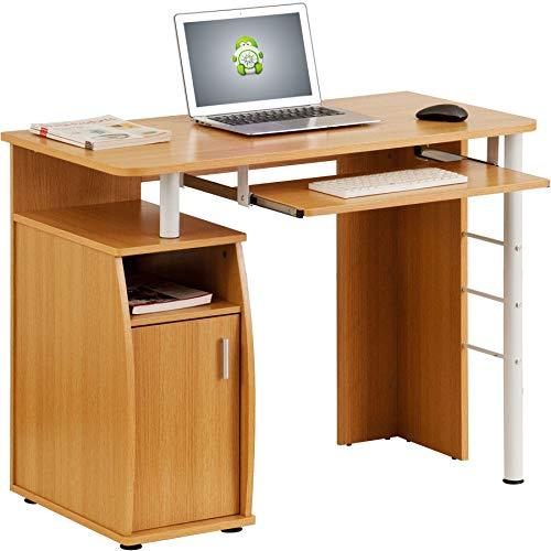 Piranha Trading Escritorio Mesa de Ordenador Despacho con Estantes, Armario para la...