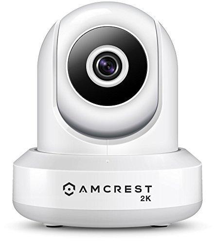 Amcrest UltraHD 2K-WLAN-Kamera 3MP (2304TVL) Dualband 5 GHz / 2,4 GHz Pan / Tilt-Überwachungskamera für drahtlose Überwachung, bidirektionales Gespräch IP3M-941W (weiß)