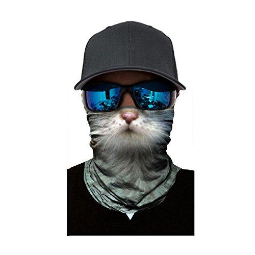 WiHoo Damen und Herren Multifunktionstuch,Lustig Animalprint Schlauchtuch Halstuch Outdoor Gesichtsmaske Atmungsaktiv Staubschutz Mund-Tuch Schlauchschal Face Shield Motorradmaske