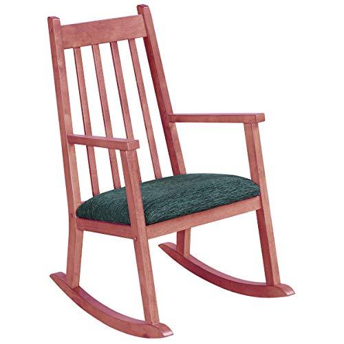 Costzon Child's Rocking Chair, Wooden Porch Rocker w/Thick Cushion, Ergonomic Kids Rocker for Toddler Boys Girls, Classic Rocker for Kids Room, Living Room, Kindergarten, Porch, Indoor Outdoor, Pink