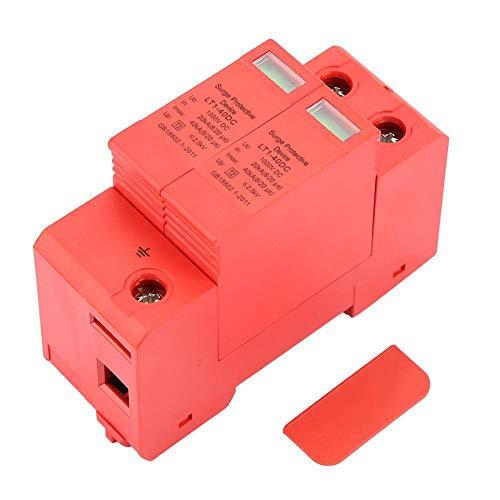 Protector de sobretensión para uso doméstico, DC1000V 2P 20KA a 40KA PC Dispositivo de protección contra sobretensiones de baja tensión para el hogar Proteja el sistema eléctrico