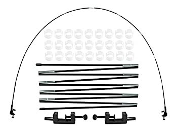 LANGXUN 12ft Table Balloon Arch Kit For Birthday Decorations Party ,Wedding and Graduation Decorations Christmas Decorations Baby Shower Bachelor Party Supplies  BLACK