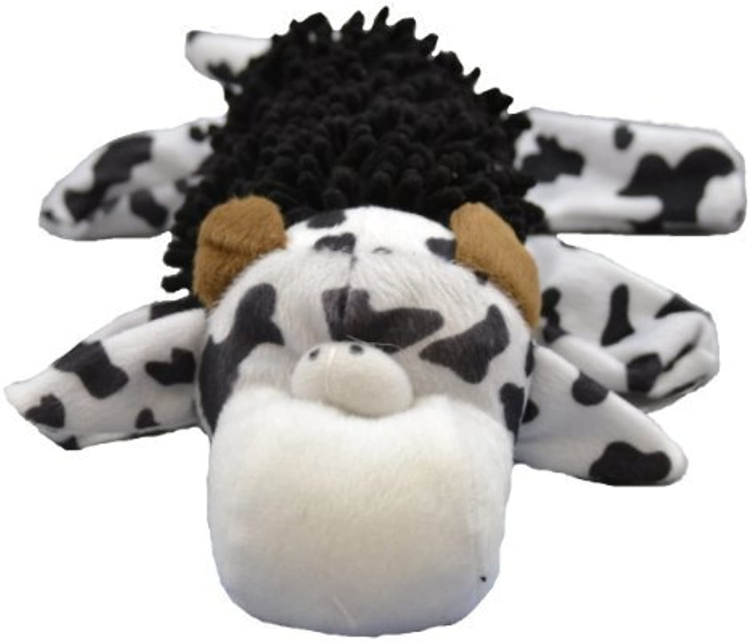 Amazing Pet Products Bottle Shaggy Pet Squeak Toy, Cow by Amazing Pet Products