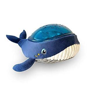 Pabobo x Kid Sleep - Lámpara de noche musical y luminosa para niños y bebés, diseño de ballena, proyector acuático, lámpara de techo, lámpara de techo, color azul