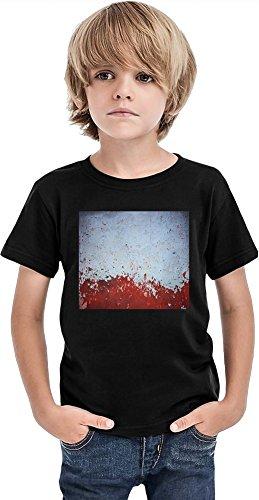 Camiseta de los muchachos de la textura, Negro, 8-9 Años