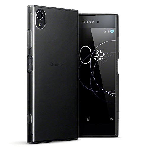 TERRAPIN, Kompatibel mit Sony Xperia XA1 Plus Hülle, TPU Schutzhülle Tasche Hülle Cover - Transparent Schwarz