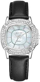 MESTIGE Womens Quartz Watch, Analog Display and Leather Strap MSWA3154