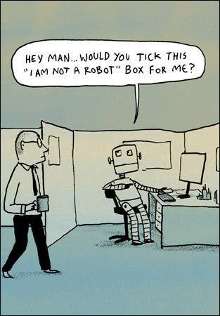 """WDM-452994 Grußkarte mit Aufschrift """"I Am Not a Roboter"""", witzige Karte aus der Serie Stand Up with Berger & Wyse von Woodmansterne, geeignet für Geburtstage, Jubiläen und andere Anlässe"""