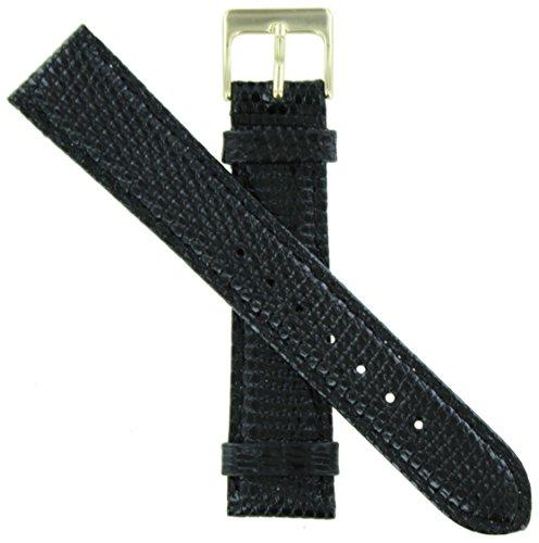 WBHQ 20mm Black 631 Genuine Lizard Watch Band