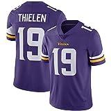 LINrxl NFLミネソタ・バイキングスフットボールユニフォーム19#エリート版ジャージーショートスリーブトップ刺繍ファンバージョンファンTシャツを印刷します (Color : Purple, Size : L)