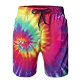 Dye Tie Spiral Vol Vector Men's Quick Dry Beach Board Shorts Summer Swim Trunks for Father's Day for Boy Swimming Medium