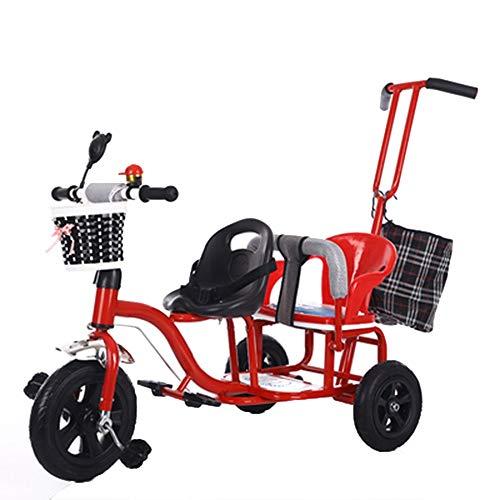 YumEIGE driewieler kinderwagen 1-6 jaar oud verjaardagscadeau kinderwagen kleine kinderen trike last gewicht 65 kg trolley (jongens/meisjes)