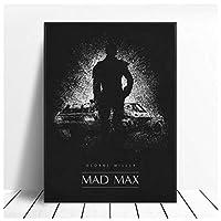 Ipea マッドマックス白黒クラシック映画絵画ポスターとプリントキャンバス家の装飾写真壁アートプリント(19.69X27.56インチ)50X70Cmフレームなし