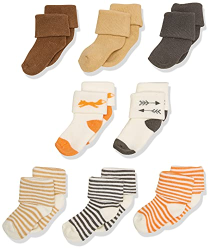 Touched by Nature Baby Organic Cotton Socks, Fox, 0-6 Months