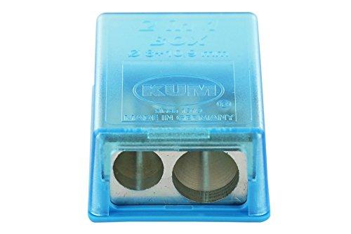 KUM AZ103.20.19-B - Kleiner Behälterspitzer 2-in-1 M2 B, aus Magnesium, blau, 1 Stück