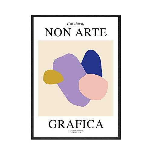 Pintura Retro abstracta Klee exposición arte de pared lienzo pintura carteles nórdicos e impresiones lienzo sin marco pintura B 50x75cm