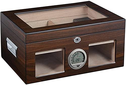 PANGPANGDEDIAN Humidor de Gran Capacidad con higrómetro Gabinete de cigarro Caja de Almacenamiento de Cigarrillos Caja Decorativa